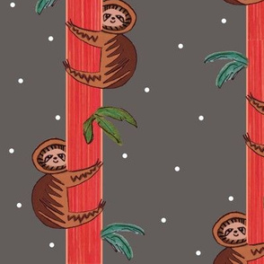 sloths in the trees