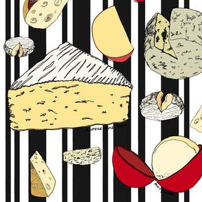 Cheese on stripe - black