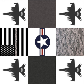Military Planes Faux Quilt rotated