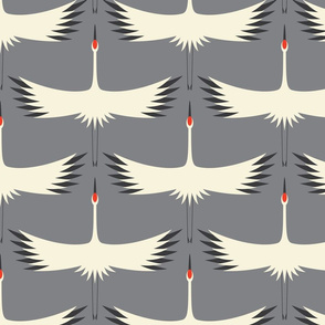 "Whooping Crane Migration - Smoke - Larger (428 pixels) (12""Wallpaper Repeat)"