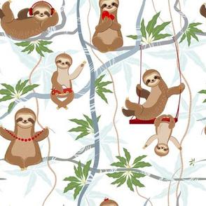 Cheerful Sloths Family