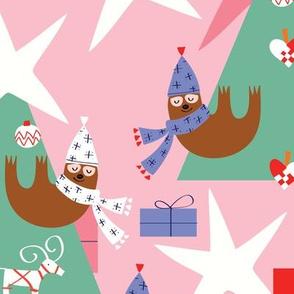 Merry Sloths_pink_Solvejg Makaretz