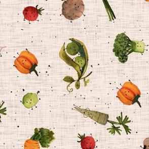 veggies beige PINK