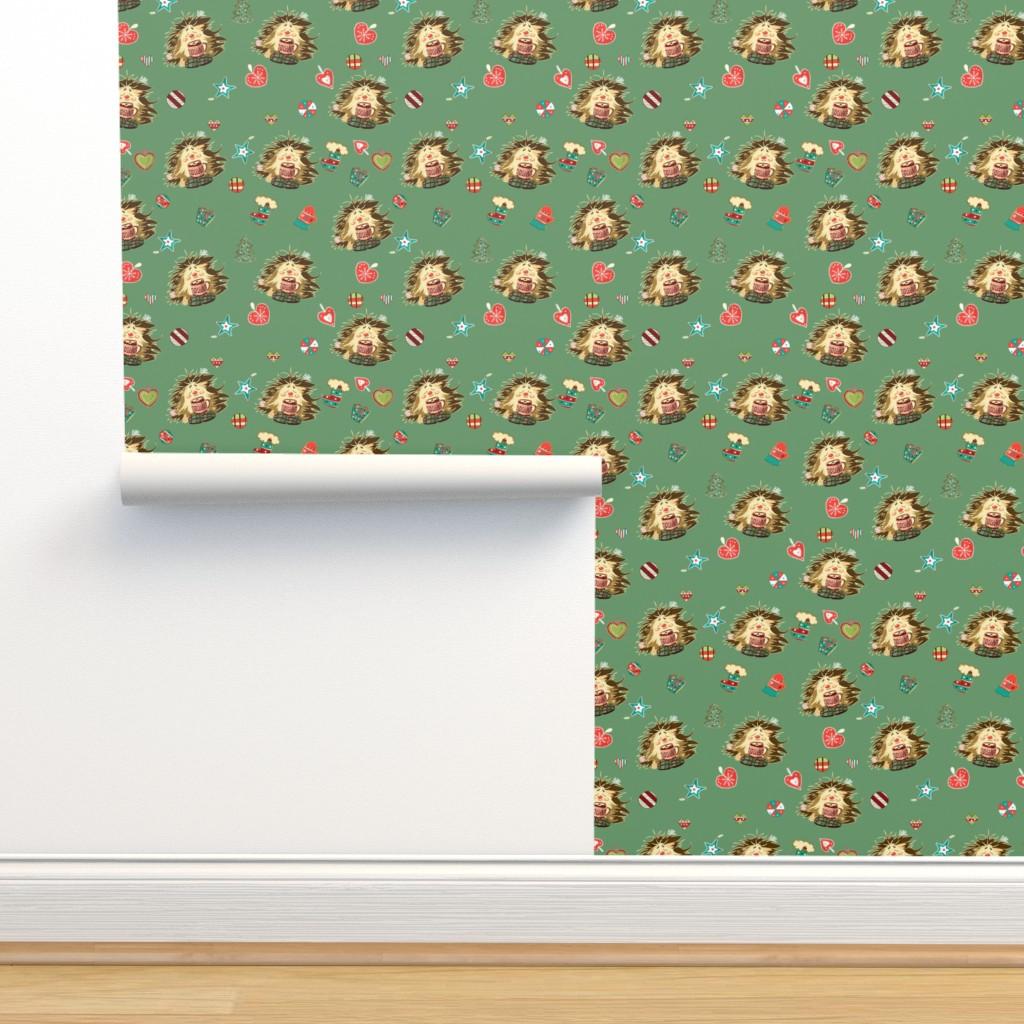 Isobar Durable Wallpaper featuring Hedgehog and hot chokolate by nina_savinova