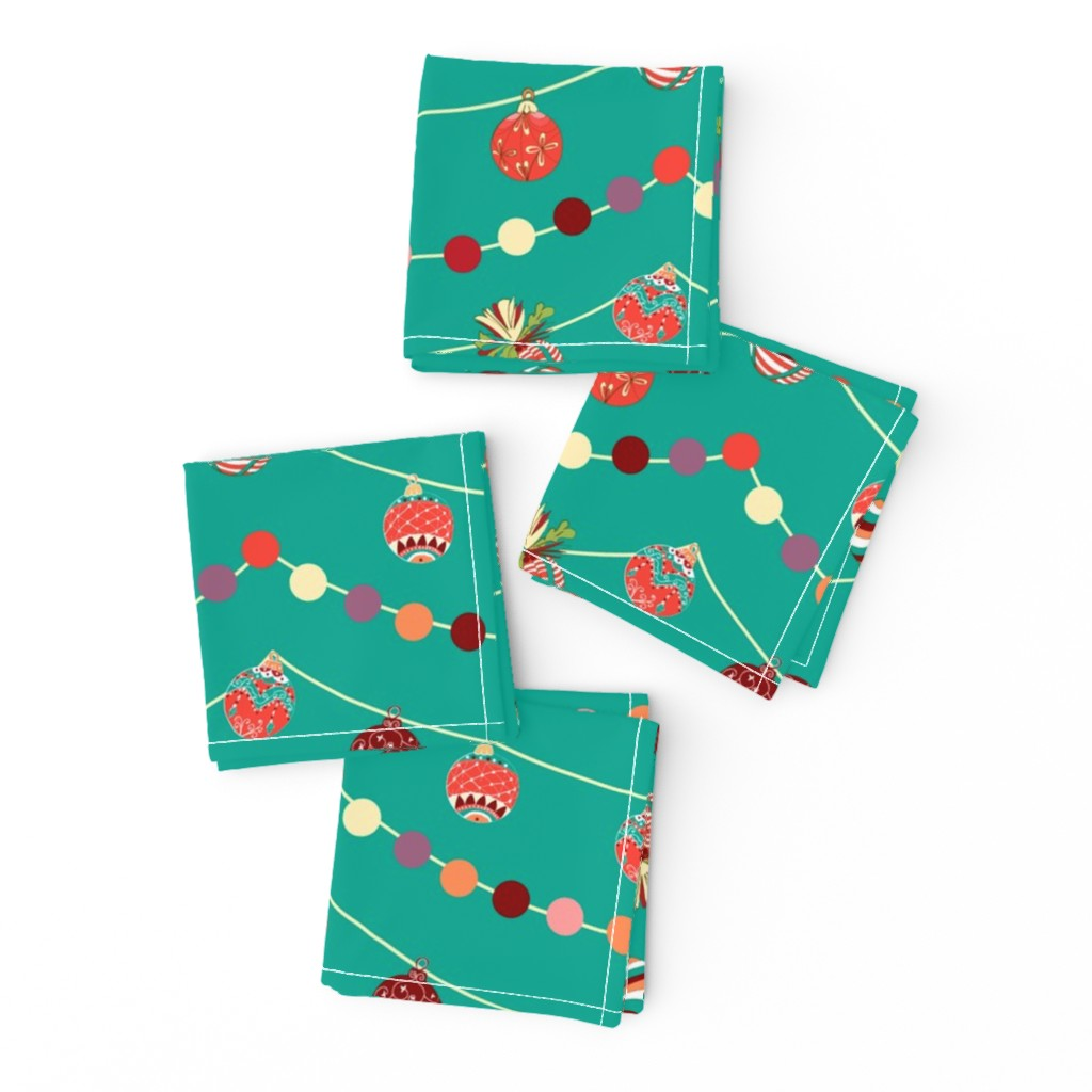 Frizzle Cocktail Napkins featuring Hand drawn vintage Christmas magical pattern design by nina_savinova