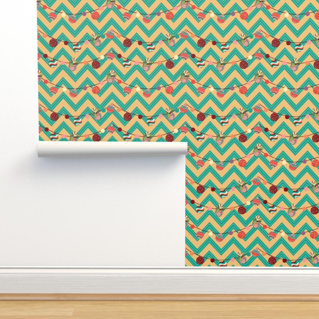 Isobar Durable Wallpaper featuring Vinatage Christmas balls by nina_savinova