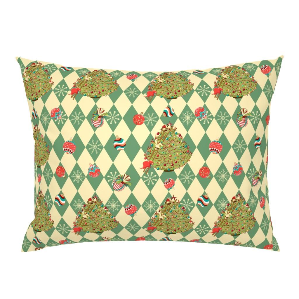 Campine Pillow Sham featuring Christmas tree story by nina_savinova