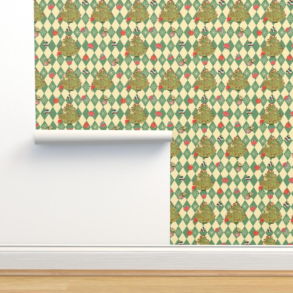 Isobar Durable Wallpaper featuring Christmas tree story by nina_savinova