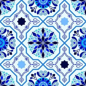Cheery Royal Blue Modern Moorish Tiles // © ZirkusDesign Bright + Sunny Spanish-inspired Tile Design