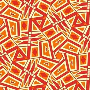 Red & Orange Busy SW Tile