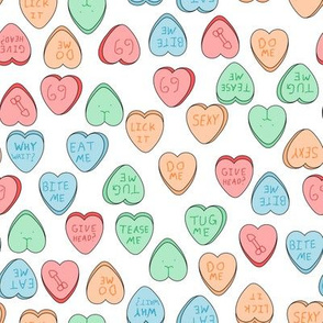 NSFW candy hearts white