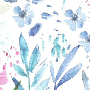 Scandi bloom • watercolor florals