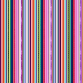 Multicolor Mexican Serape Inspired Stripe Fabric (Smaller Scale)