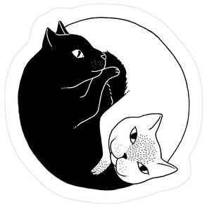 Yin Yang Cats Plush