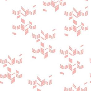 Chevron pink white simplified