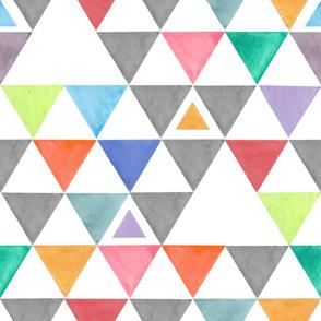 Bright Colorful Triangles