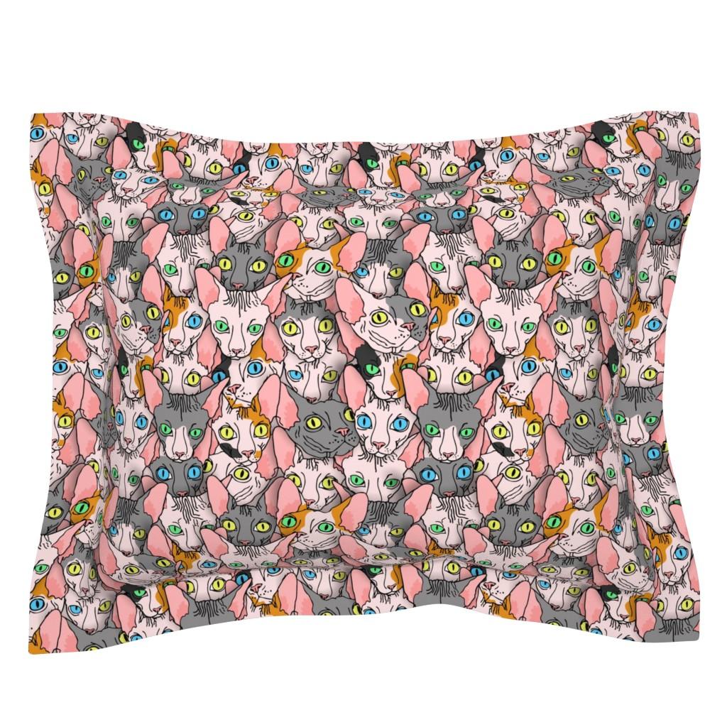 Sebright Pillow Sham featuring sphynx block diverse  by b0rwear