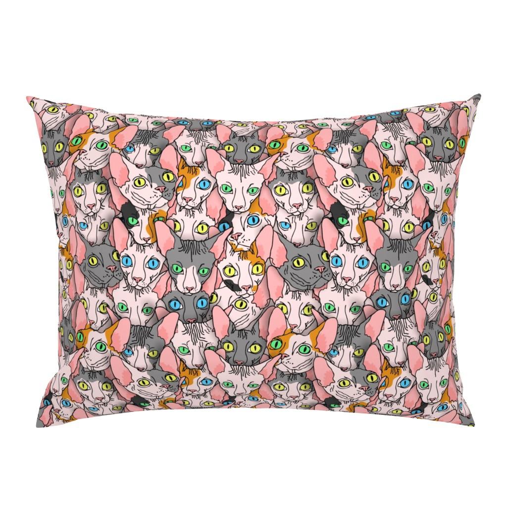 Campine Pillow Sham featuring sphynx block diverse  by b0rwear