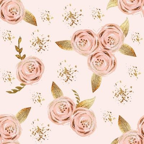 Blush Gold Watercolor Floral