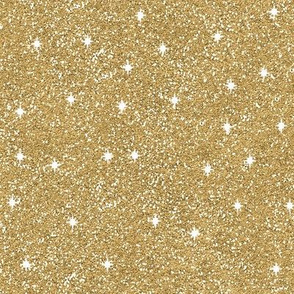 Faux Sparkly Gold Glitter