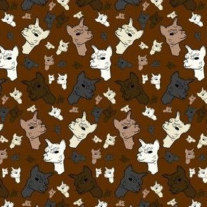 Alpaca Heads Fabric New 2018
