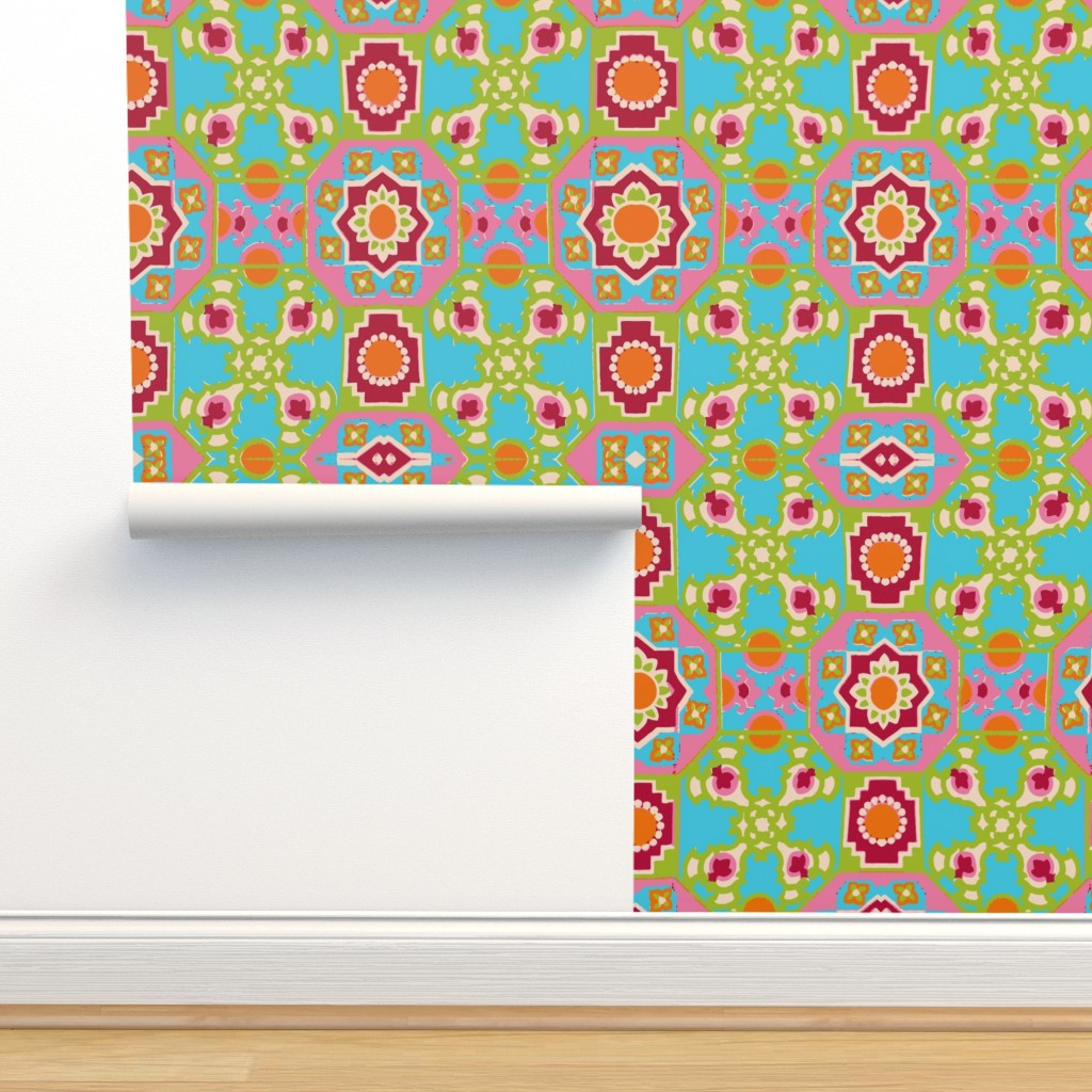Isobar Durable Wallpaper featuring wow flip retro by snork