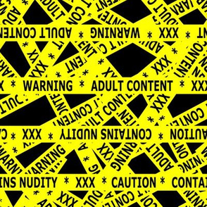 contains nudity tape yellow and black