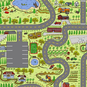 Country Roads Play Mat