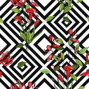 Blossom geometric  floral design