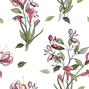 Botanical motifs print