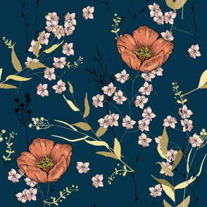 Trendy abstract botanical