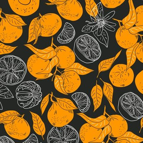 Tangerins Orange-white