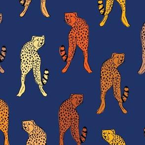Cheetah print // indigo