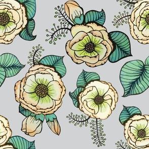 Green Flowers by ArtfulFreddy