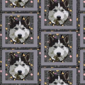 Husky dog  fabric