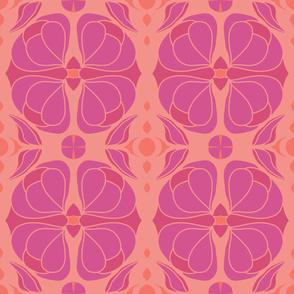 Deco Floral Peach