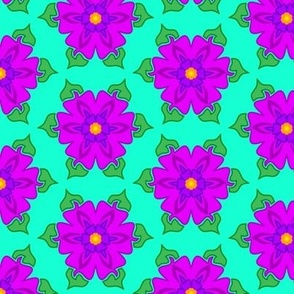 Deep Purple Floral Spring Time Design