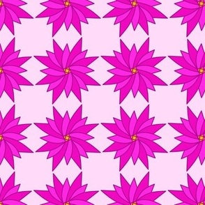 Pink Pointy Floral Spring Time Design