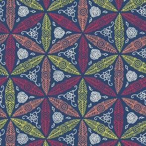Matisse's pysanky - floral