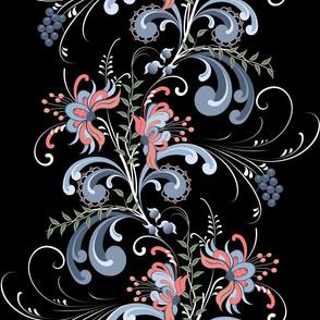 Flora:  Rosemaling, Scandinavian Folk Art, Norwegian