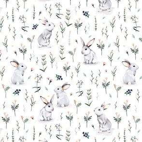 Meadow Bunnies - Watercolor BIG