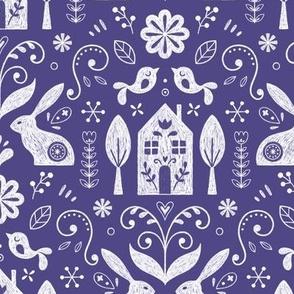 Scandinavian folk - Delft blue