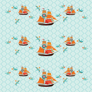 Ships & Swallows - lg repeat