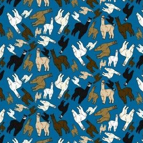 Alpacas Large Group Brown Fabric