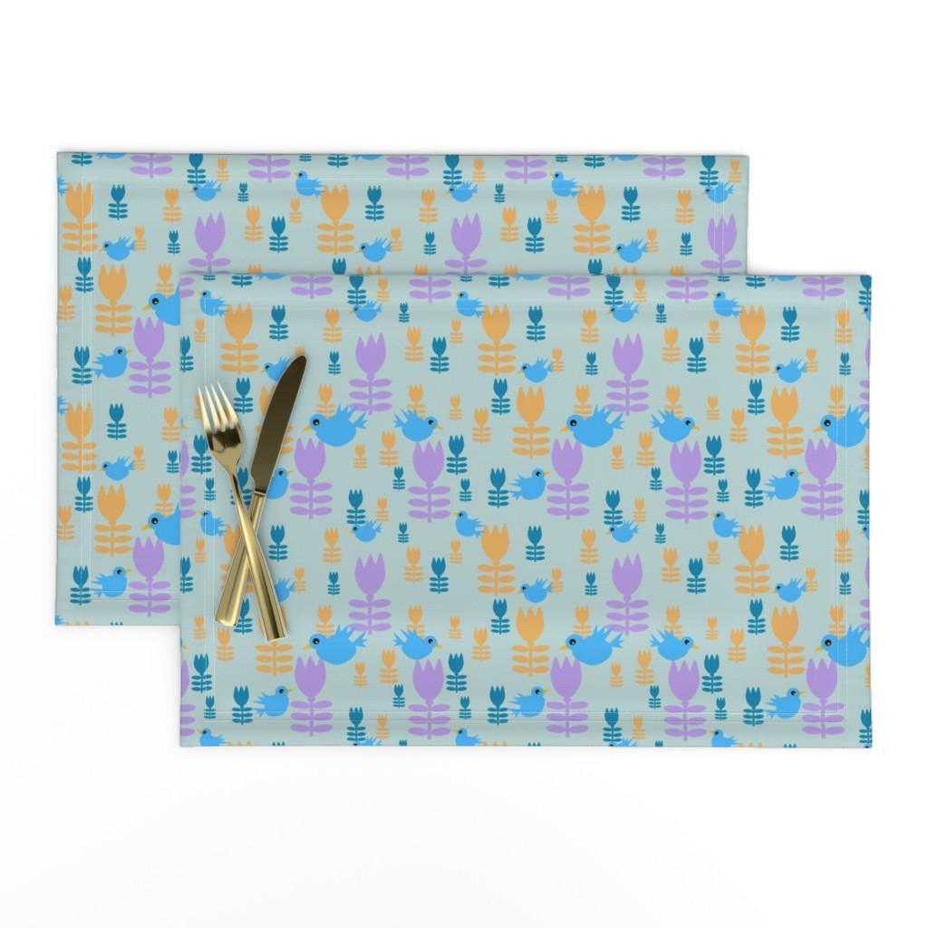 Lamona Cloth Placemats featuring Bluebirds by gargoylesentry