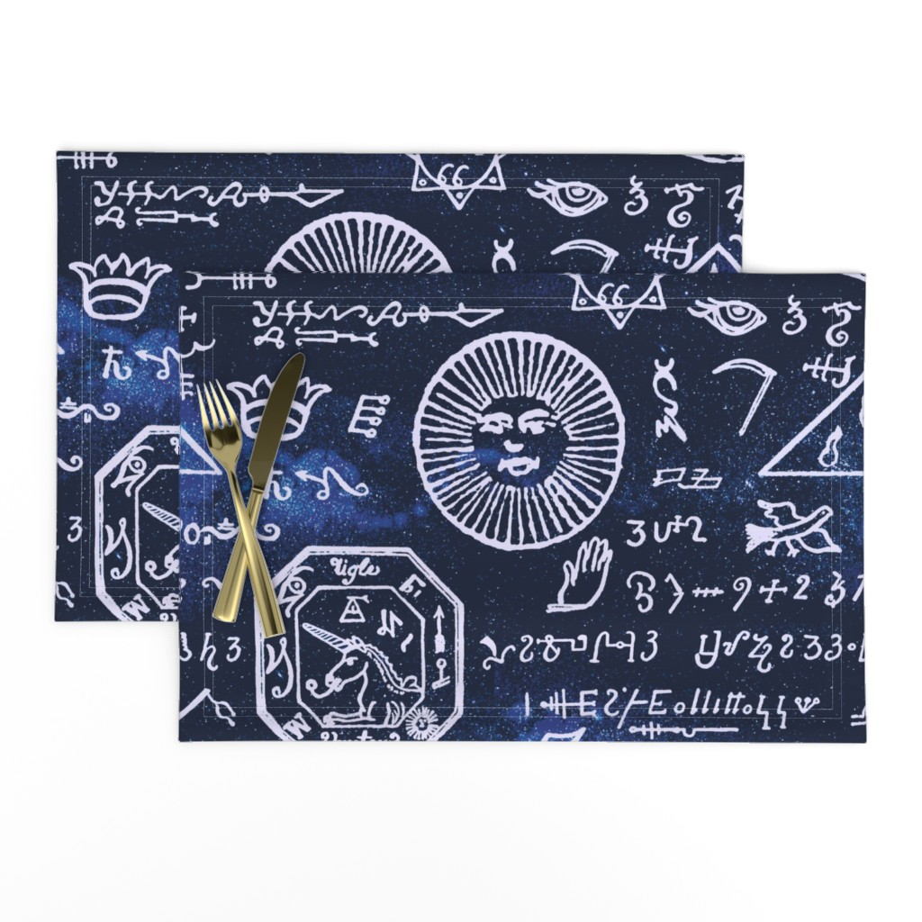 Lamona Cloth Placemats featuring celestial mystic musings by whatever-works