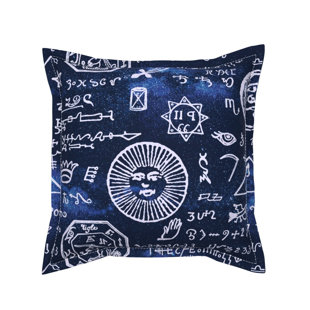 Serama Throw Pillow featuring celestial mystic musings by whatever-works