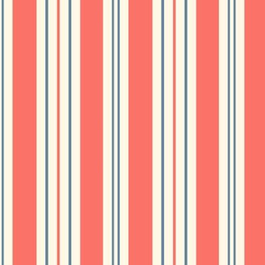 French Ticking ~ Coral Reef, Elzabeth  and Cosmic Latte