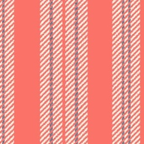 French Ticking ~ Coral Reef, Elzabeth, and Cosmic Latte  ~ Woven