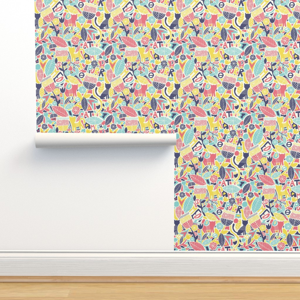 Isobar Durable Wallpaper featuring swedish kitty cats  by diseminger